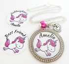S.NECKLACE- Hp.bd/St.H- Unicorn *Any Name* Daughter,Granddaughter,Niece,Xmas 7