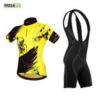 2016 Outdoor Cycling Bike Short Sleeve Clothing Sets Suits Jersey + (Bib) Shorts