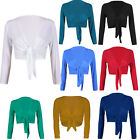 """US STOCK"""" Women Long Sleeve Stretchy Front Tie Up Cardigan Sweater"""