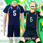 Haikyu!! Karasuno High No.5 Ryunosuke Tanaka Uniform Cosplay Costume Full Set
