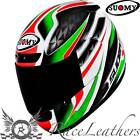 SUOMY APEX ITALY ITALIAN FLAG  FULL FACE MOTORCYCLE MOTORBIKE HELMET
