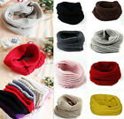 New Womens Mens Winter Warm Infinity 1 Circle Cable Knit Cowl Neck Scarf Shawl