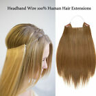 Human Hair Invisible Hair Extension Hair On A Transparent Wire Natural Blonde