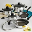 Cookware Best Deals - Nonstick 9-Piece Pots And Pans Cookware Set Cooking-Polished or Red Set