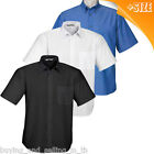Brand New MENS WHITE Short Sleeved BUSINESS / Formal Shirts - sizes 4XL & 5XL