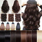 Uk Stock Heat Resistant Clip In Hair Extensions Straight Curl Wavy Human Favored