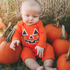 Cotton Newborn Baby Girl Boy Clothes Halloween Pumpkin Romper Jumpsuit Outfits