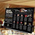Personalised Wedding Table Seating Plan-STAR TREK THEME-4 SIZES AVAILABLE