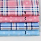 50cm*160CM Gingham ChecKed 100%cotton fabric Quilting Cloth Bedding Sewing 04