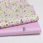 50cm*160CM Flower&ChecKed 100%cotton fabric Quilting Quilt Bedding Sewing DIY24