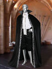 Medieval Renaissance Dracula Style Cape Cloak Handmade from Velour