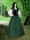 Traditional Scottish Dress Tartan Highland Renaissance Dress Reenactment