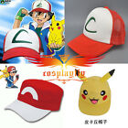 Anime Pokemon Pocket Monster Pikachu Ash Cosplay Hat Baseball Cap