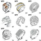 Women 925 Silver Ring Fashion Luxury Engagement Jewelry Wedding Ring