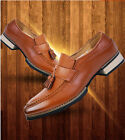 Men's Casual Leather Fringe Pointed Loafers Work Dress Shoes Oxfords Brogues