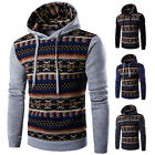 Men Pullover Sweatshirt Hoodie Casual Sweater Outwear Hooded Splicing Coat New