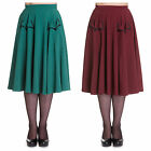 Hell Bunny Ellie May Party Skirt Pockets Rockabilly 1950's Vintage Retro Style