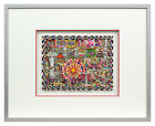 James Rizzi - Fly me to the moon - Original 3D Bild drucksigniert
