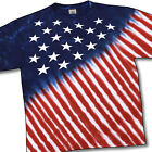 USA STARS & STRIPES-AMERICAN FLAG-TIE DYE TSHIRT PLUS SIZES 3X, 4X, 5X, 6X