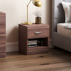 Riano Bedside Cabinet 1 Drawer Metal Handles Runners Bedroom Furniture <br/> ORDER BY 2PM FOR NEXT DAY DELIVERY-CHEAPEST ON EBAY