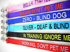 Personalized Embroidered Dog Name 6FT Nylon Leash - Black Red Pink Purple Blue
