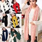 Fashion Ladies Long Wool Warm Knit Scarf Shawl Women Thick Winter Neck Scarves