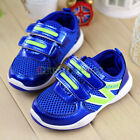 Kids Girls Boys PU Leather + Mesh Breathable Running Shoes Sneakers Sprots Shoes