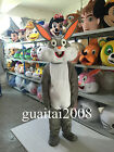 2016 NEW Easter Rabbit Bugs Bunny Mascot Costume Halloween Fancy Dress 5 Colors