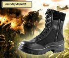 New Army tactical Comfort Leather Combat Hiking Military Ankle Boots Mens Shoes