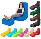 BLACK FRIDAY - Outdoor Water Resistant Bean Bag Gamer + Footstool Lounger Gaming
