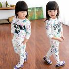 Toddler Kids Baby Girls Autumn Clothes Hoodie Tops  Long Pants 2PCS Outfits Set