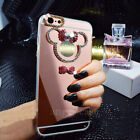 3D Luxury Mirror Bling Diamond Crystal Bowknot Case Cover for Samsung S10+ Note9
