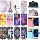 Fashion Magnetic Flip Pattern Hybrid Card Pocket Stand PU Leather Cover TPU Case