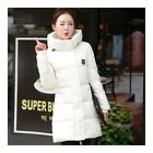 Super Long Down Coat Woman Thick Fashionable Thick   cream white
