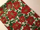 100% Cotton Christmas Fabric Metre Fat Quarters Festive Red Green Gold Cream X69