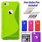 S-Line Back Case Soft Gel  Silicone Slim Grip Cover For  Apple iPhone 7 PLUS UK