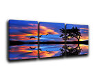 Seascape Sunset Landscape Canvas Wall Art Print treble box framed Picture 11