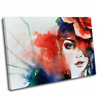 Abstract Painted Woman Canvas Wall Art Print Framed Picture 1 Gallery Grade