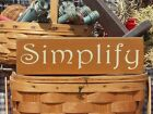 Primitive Simplify handcrafted country  sign