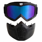 Flexible UV Lens Goggles Face Mask Protective Motorcycle Helmet Motorbike Riding