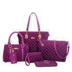 Classic 6 sets fashion Diamond Lattice women  leather messenger bag shoulder bag