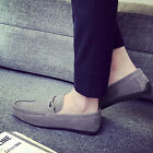 Fashion Mens Faux Leather Slip On Shoes Loafers Casual Driving Moccasins Flats