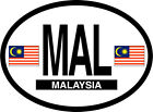 malaysia oval vinyl sticker decal bumper flag country car vehicle