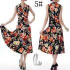 AU SELLER 50'S Vintage Sexy Floral  V-Neck Sleeveless Dress dr141-5