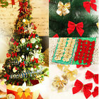 Christmas Xmas Tree Ornament Baubles Decoration Decor Party Glitter Bowknot 12pc