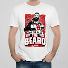 Mens funny T-shirt graphic tee - HAVE NO FEAR, THE BEARD IS HERE mowember gift