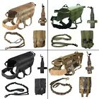 SET of DOG TACTICAL VEST + LEASH + WATER HOLDER + MOLLE BAG HUNTING MILITARY K9