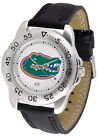 Florida Gators Sport Watch Anochrome Leather Band Ladies / Mens White Dial
