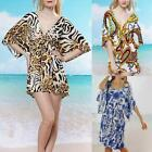 AU SELLER BOHO Sexy Tunic Kaftan Long Top/Beach Bikini Cover Up/Mini Dress sw017