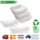 250pcs Cardboard Seafood Tray Small Medium Large for Cake Fish Chips Disposable